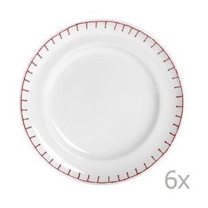 Zestaw 6 talerzy Sophie Stitch 21 cm, czerwony
