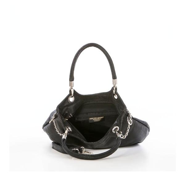 Skórzana torebka Federica Bassi Joanna, czarna