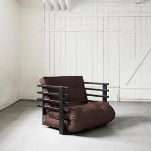 Fotel rozkładany Karup Funk Black/Brown
