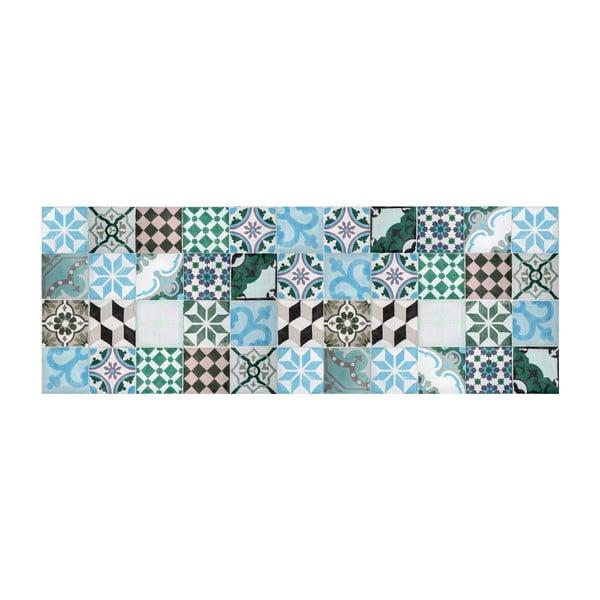 Dywan winylowy Mosaico Turquesa, 50x140 cm