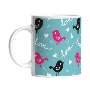 Ceramiczny kubek Bird Love, 330 ml