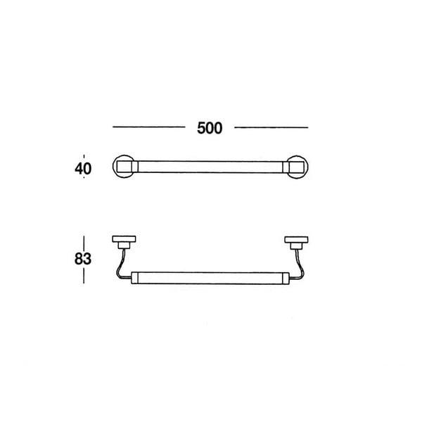Uchwyt na ręczniki Chromo, 50x4x8 cm