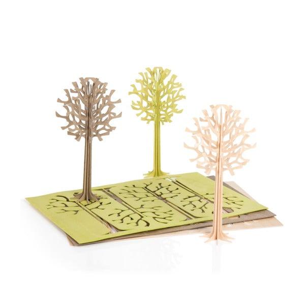 Składana pocztówka Lovi Tree Natural, 13.5 cm