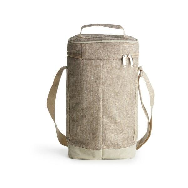 Brązowa torba termiczna Sagaform Nautic, wys. 36 cm