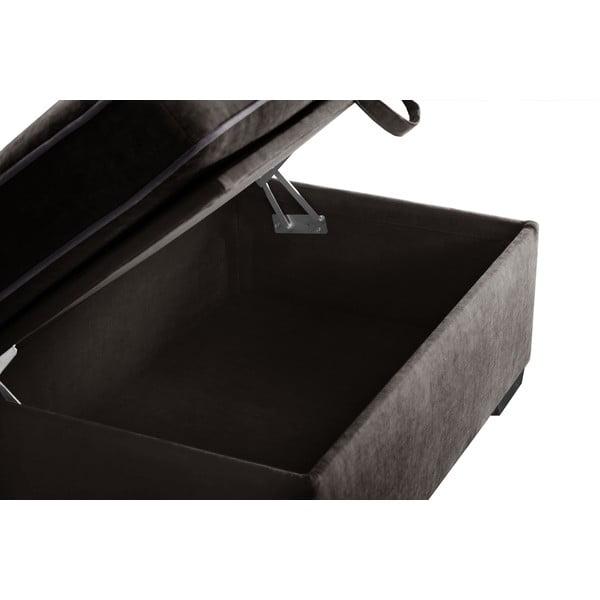 Trzyczęściowy komplet wypoczynkowy Jalouse Maison Serena, ciemnobrązowy