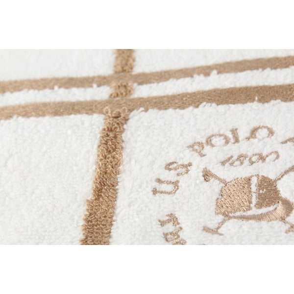 Komplet 2 ręczników Towel U.S. Polo Assn. Hand White and Beige, 50x90 cm