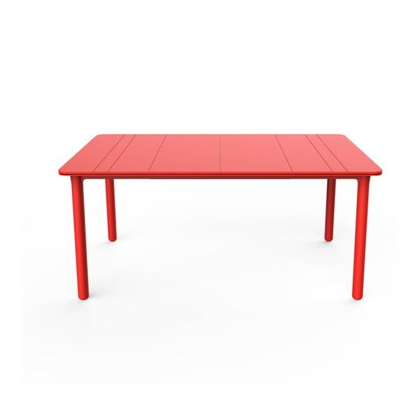 Czerwony stół ogrodowy Resol NOA, 160x90cm