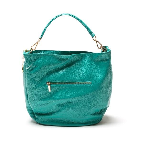 Skórzana torebka Fila, turkusowa
