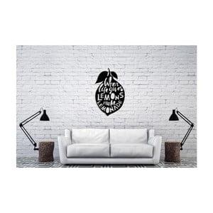 Czarna dekoracja ścienna Oyo Concept Lemons, 60x50 cm