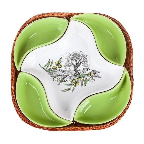 Miska w koszyku Banquet Olives, 28 cm, 5 elementów