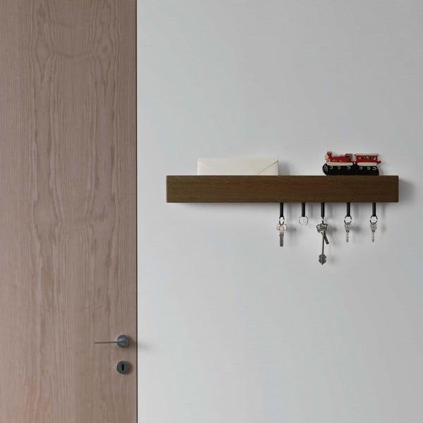 Półka z wieszakami na klucze Rail, 70 cm