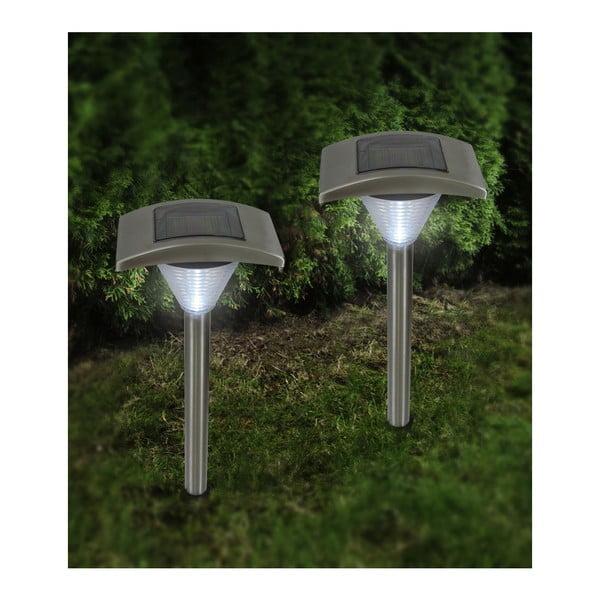 Komplet 2 lamp ogrodowych Solar