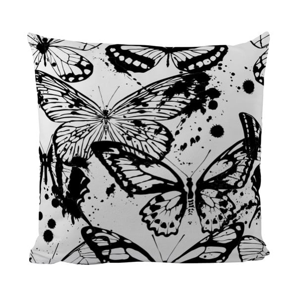 Poduszka Black Shake Butterflies, 50x50 cm
