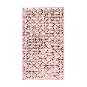 Dywanik łazienkowy Origami Light Pink, 60x100 cm