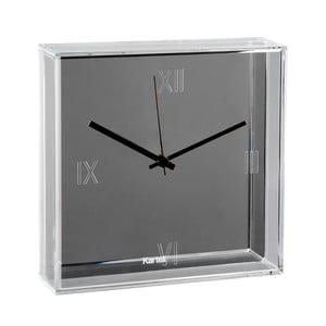 Srebrny zegar wiszący Kartell Tic & Tac New