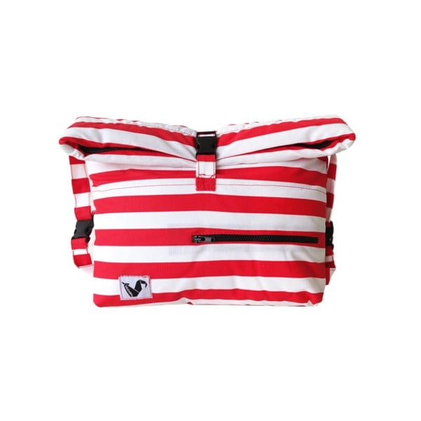 Wodoodporna torba Pocket Red Stripes