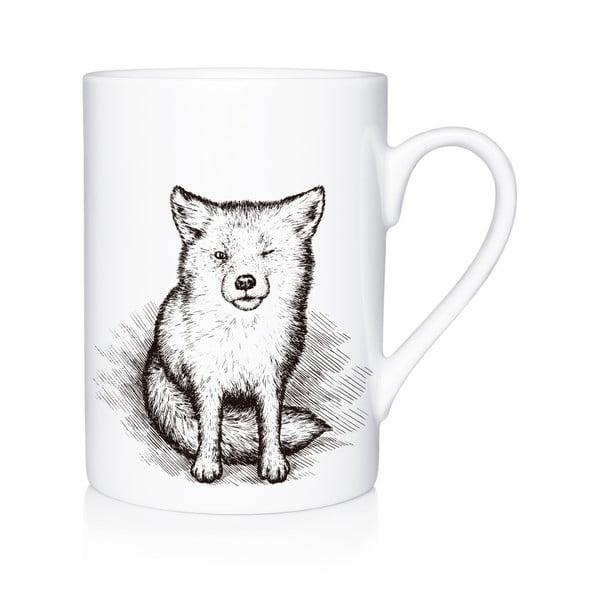 Porcelanowy kubek Little Fox, 300 ml