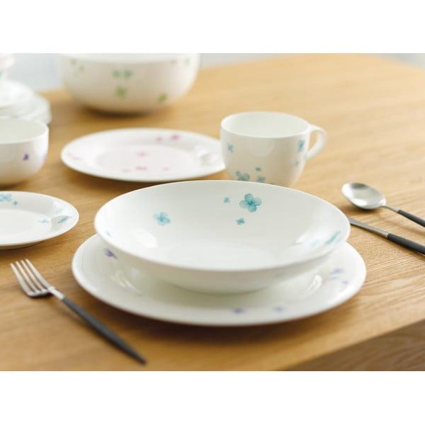 Zestaw 4 talerzy z porcelany angielskiej Petal, 21 cm