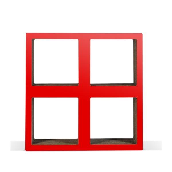 Kartonowa biblioteczka Bit Square Red