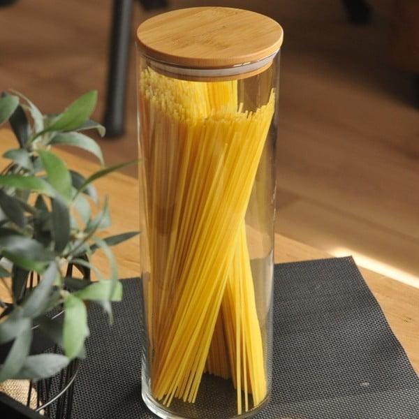 Pojemnik na spaghetti z bambusową przykrywką Bambum Alpha Storage