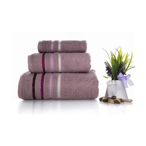 Zestaw 3 ręczników Lines V1, 30x50 cm + 50x100 cm + 70x140 cm