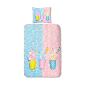 Dziecięca pościel bawełniana Müller Textiels Sweet Candy, 140x200 cm