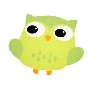 Dywan Owls - zielona sowa, 66x66 cm