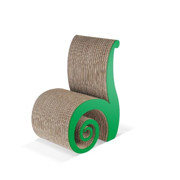 Kartonowe krzesełko dziecięce Chiocciolina Green