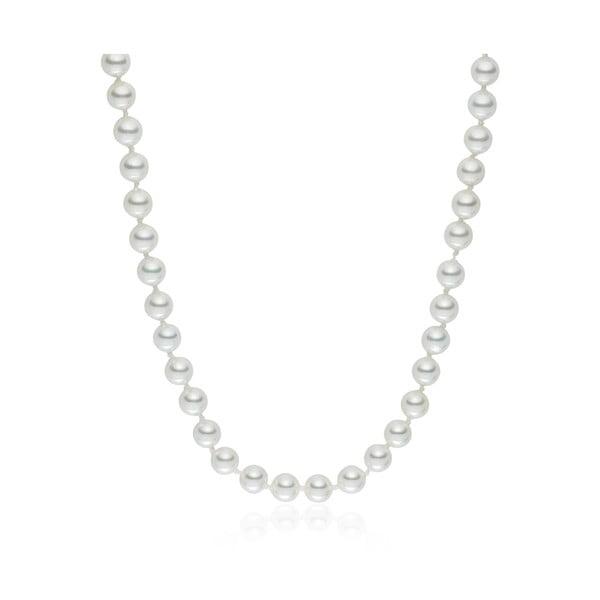 Biały   perłowy naszyjnik Pearls Of London, 42 cm