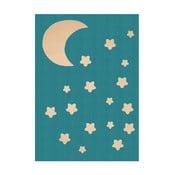 Turkusowy dywan dziecięcy Hanse Home Night Sky, 140x200 cm