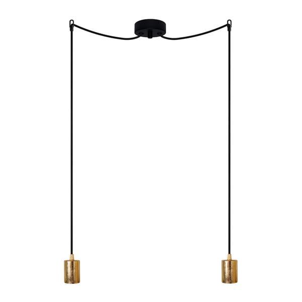 Lampa wisząca podwójna Cero, złoty/czarny/czarny