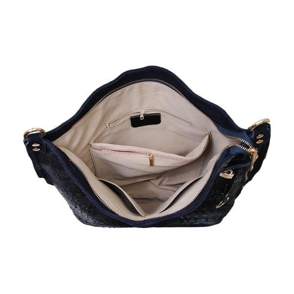 Ciemnoniebieska torebka skórzana Andrea Cardone Edvige