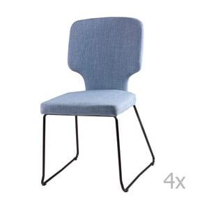 Zestaw 4 jasnoniebieskich krzeseł sømcasa Dana