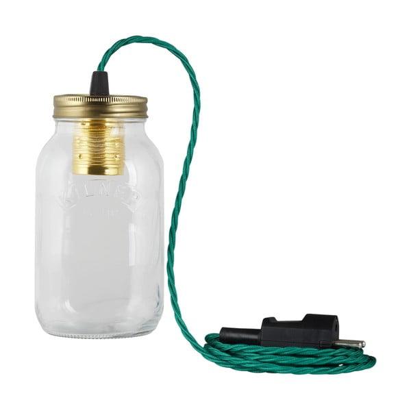 Lampa JamJar Lights, zielono-niebieski skręcony kabel