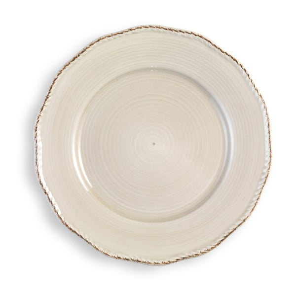 Duży kremowy talerz Brandani