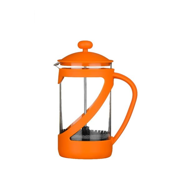 French press Cafetiere Orange, 600 ml