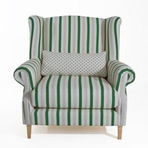 Zielony fotel w paski Max Winzer Harvey