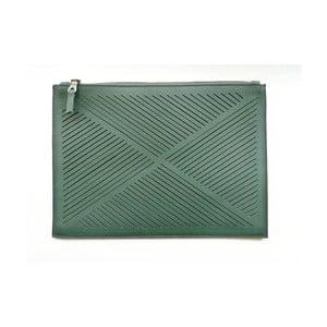 Skórzana torebka na ramię/kopertówka Cut Out, zielona