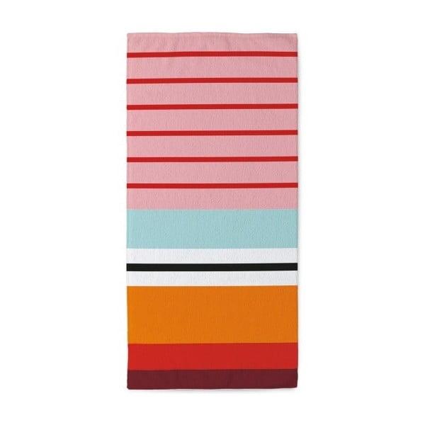 Ręcznik Stripes Red, 50 x 100 cm