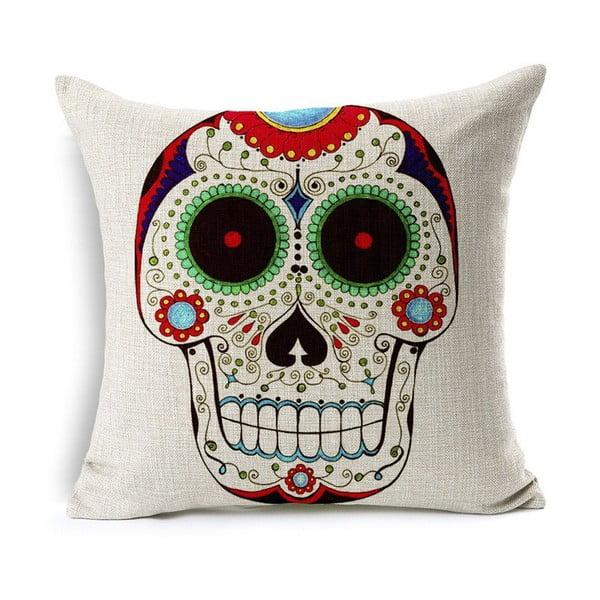 Poszewka na poduszkę Sugar Skull, 45x45 cm