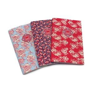 Komplet 3 zeszytów Makenotes Floral Quilt