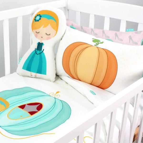 Bawełniana pościel dziecięca z poszewką na poduszkę Mr. Fox Pumpkin, 115x145 cm