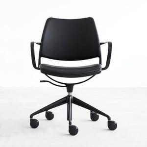 Krzesło na kółeczkach Gas Swivel, czarne/czarne nogi