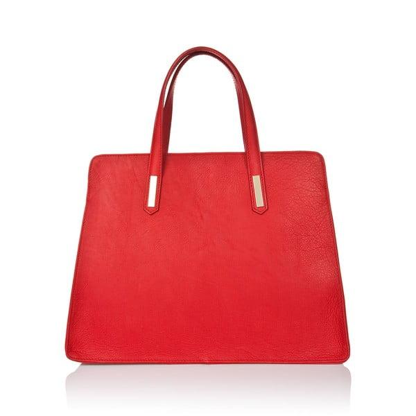 Czerwona torebka skórzana Markese Sauvage