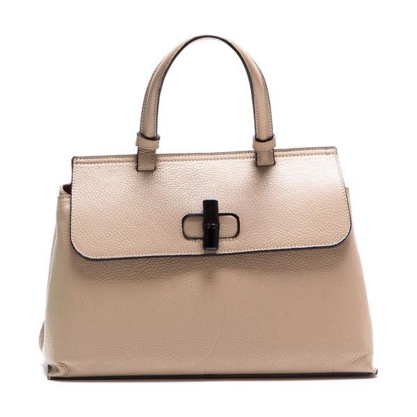 Kremowa skórzana torebka Luisa Vannini