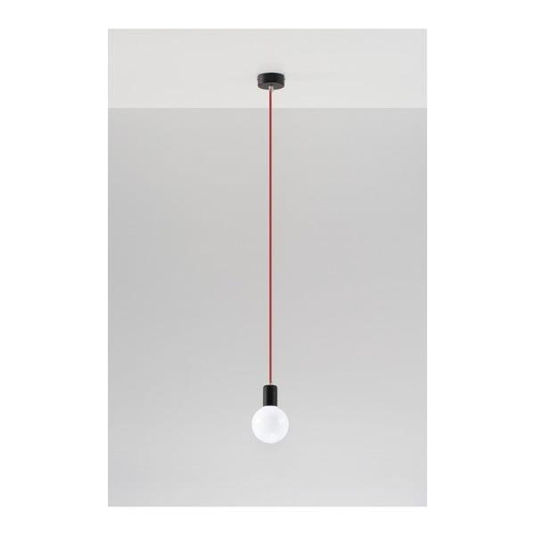 Czarno-czerwona lampa wisząca Nice Lamps Bombilla
