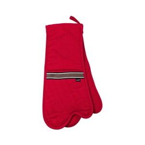 Czerwona podwójna rękawica kuchenna Ladelle Professional Series