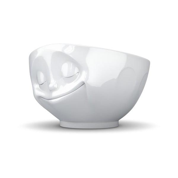 Biała porcelanowa szczęśliwa miska 58products