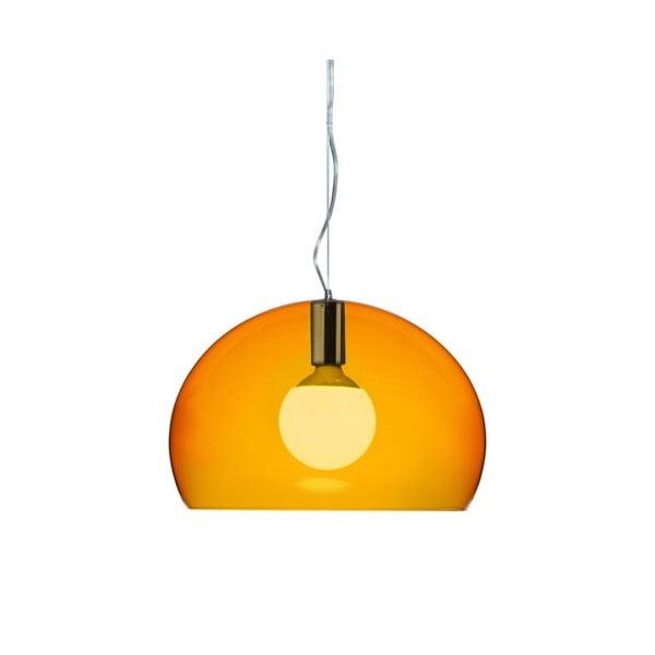 Mała pomarańczowa lampa wisząca Kartell Fly