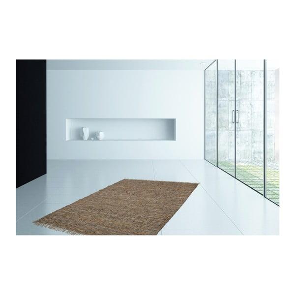 Beżowy skórzany dywan Kayoom Rajpur, 150x210 cm